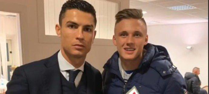 Martin Graiciar se vyfotil s hvězdou Juventusu Cristianem Ronaldem