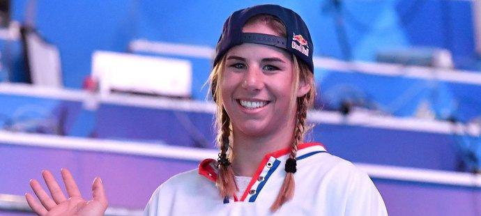 Dvojnásobná olympijská vítězka Ester Ledecká vyrazila podpořit české hokejisty na MS do Bratislavy