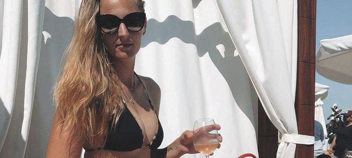 Tenistka Kristýna Plíšková zaskočila na slavnou monackou pláž po tréninku.