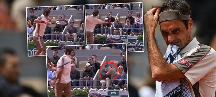 Gentlemanův výbuch! Federer napálil míč do tribun a vyděsil fanoušky
