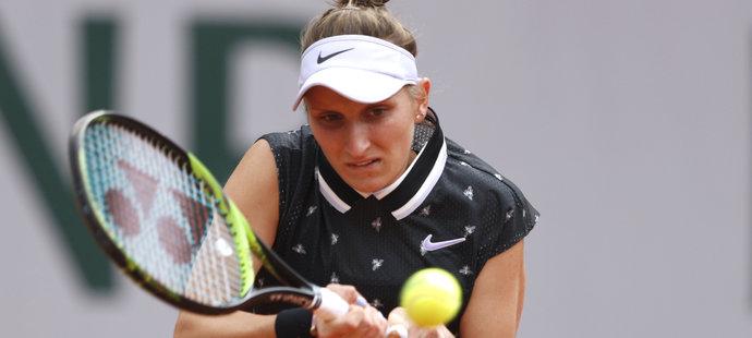 Markéta Vondroušová ve svém prvním grandslamovém finále kariéry na Roland Garros