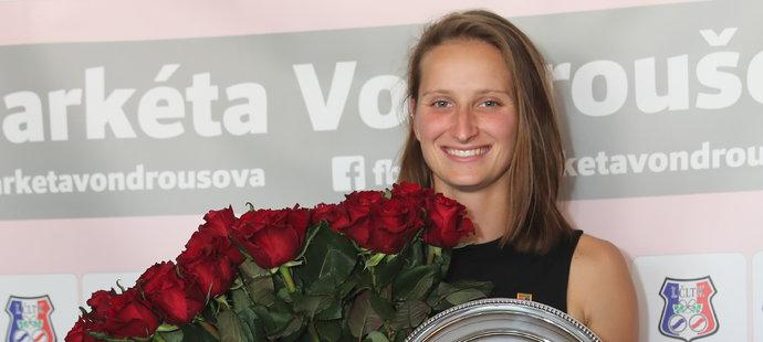 Markéta Vondroušová se vrátila do Prahy po finále French Open