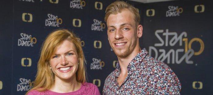 Koukalová a její taneční partner Práger