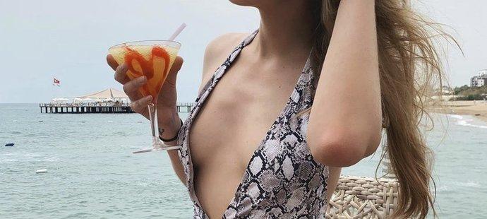 Pavlína Jágrová na dovolené v Turecku