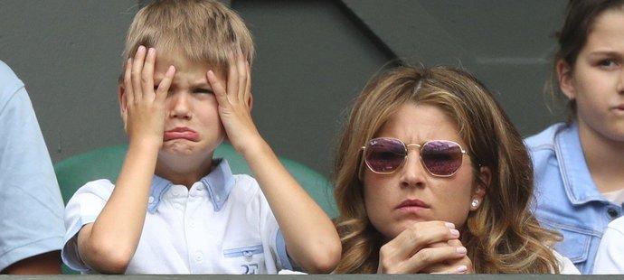 Jeden ze synů Rogera Federera nevěřil vlastním očím, jak to jeho taťka hraje