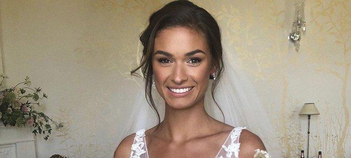 Krásná novomanželka Tomáše Hertla Aneta