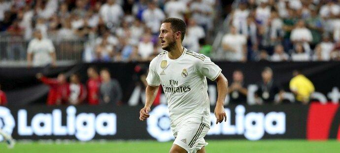 Eden Hazard má za sebou první zápas za Real Madrid, ke kterému navíc nastoupil s číslem 50 na dresu na počest padesátiletého výročí přistání na Měsíci.