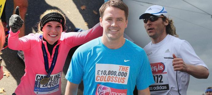 Jak zaběhli maraton? Nedvěda předčily tenistky, ale vládne hvězda F1
