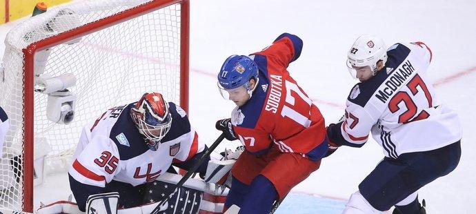 Vladimír Sobotka během zápasu s Američany na Světovém poháru 2016