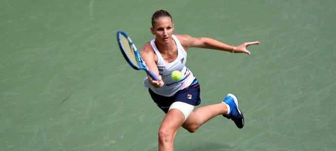 Karolína Plíšková v souboji s Kontaovou na US Open