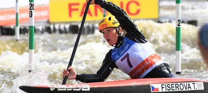 Tereza Fišerová ve finále Sp