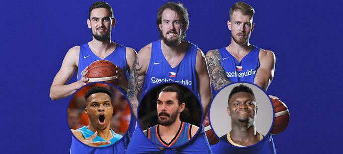 Dvojníci? Kterým hvězdám se čeští basketbalisté nejvíc podobají?