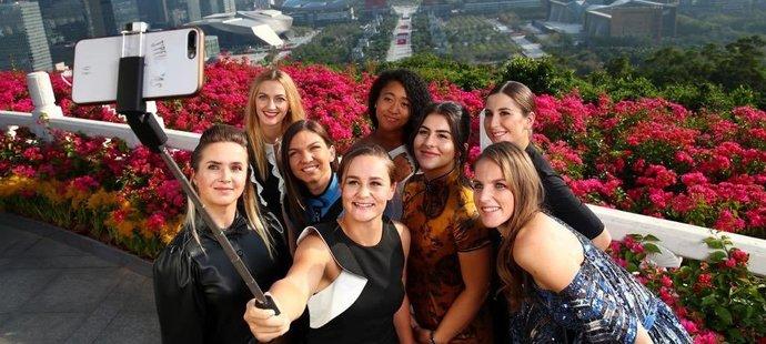 Tenistky si před Turnajem mistryň udělaly selfie