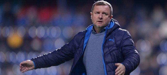 Trenér Plzně Pavel Vrba během zápasu ve Zlíně, který skončil nerozhodně 1:1