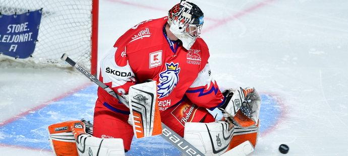 Marek Langhamer začal proti Finsku jako jednička