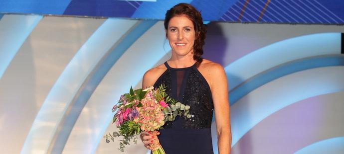 Zuzana Hejnová na vyhlášení ankety Atlet roku 2019