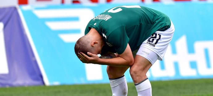 Jan Matoušek si obnovil během utkání Jablonce se Spartou zranění a bude chybět reprezentaci do 21 let