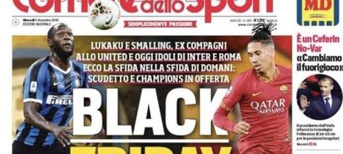 Kontroverzní titulní strana italského deníku Corierre dello Sport