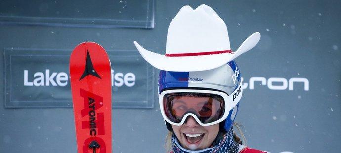 Na oblíbené trati v kanadském Lake Louise Ester Ledecká vyhrála sjezd