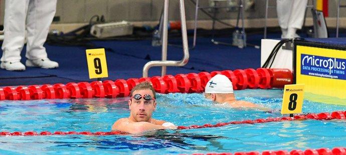 Český plavec Jan Šefl