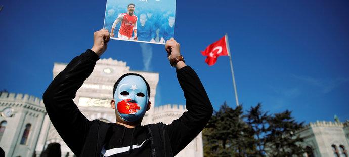 Demonstrace Ujgurů v Istanbulu