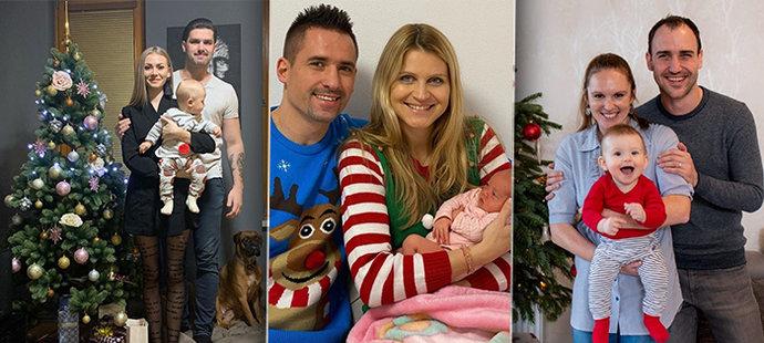 Řada sportovců oslavila Vánoce jako čerství rodiče