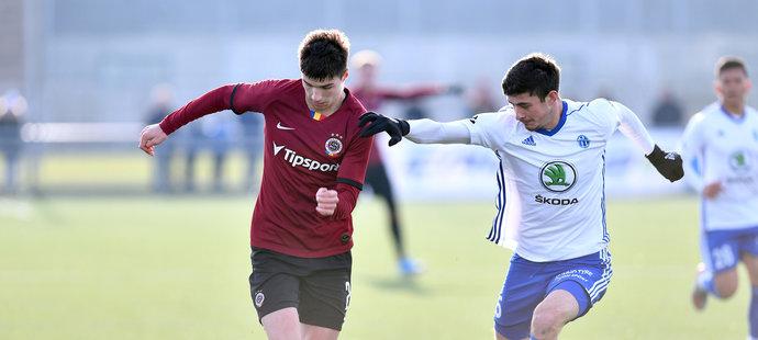 Adam Gabriel v zápase proti Mladé Boleslavi