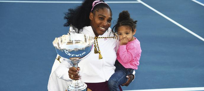 Serena Williamsová v Aucklandu vybojovala 73. trofej kariéry, první po porodu dcery Alexis Olympie