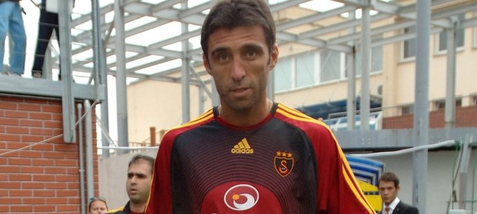 Legendární turecký fotbalista Hakan Sükür na stadionu v Mladé Boleslavi