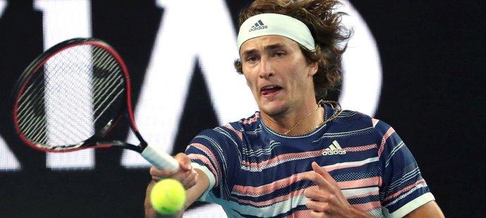 Alexander Zverev během utkání prvního kola Australian Open