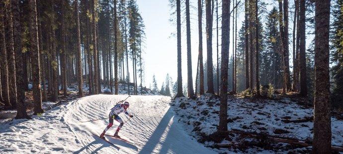 Vytrvalostní závod mužů ve slovinské Pokljuce provázelo nádherné slunečné počasí