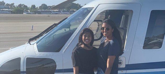 Dcery Bryantových před osudným vrtulníkem