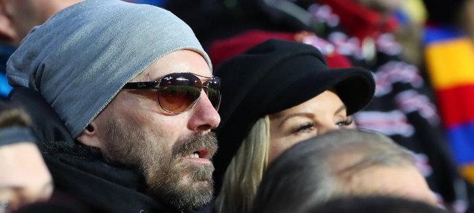 Tomáš Řepka s přítelkyní Kateřinou Kristelovou zavítali na první jarní utkání Sparty