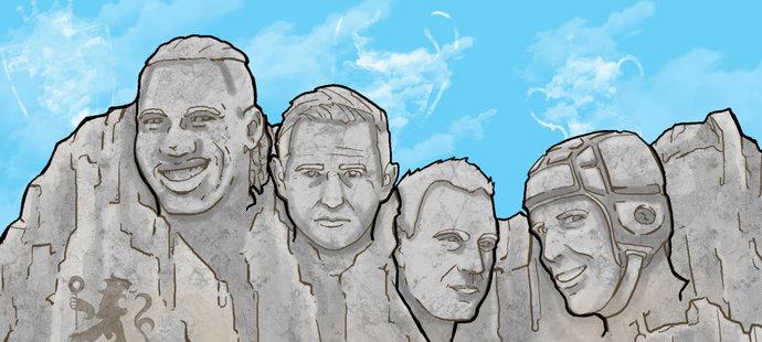 Mount Rushmore ve stylu legend Chelsea