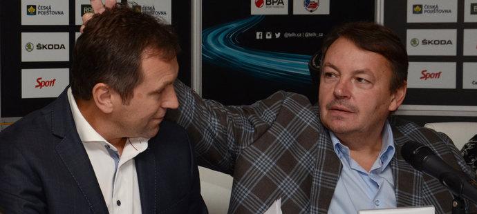 Exraligový boss Josef Řezníček a vládce českého hokeje Tomáš Král