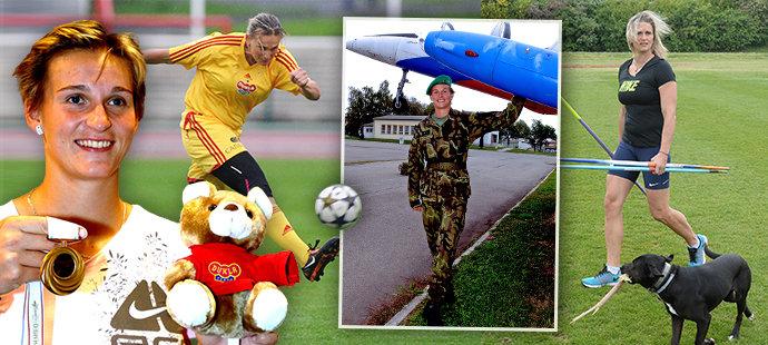 Jak se měnila Špotáková: šampionka, ale i vojačka, máma a fotbalistka