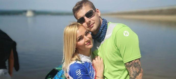 Martin Galia se svou krásnou a hyperaktivní manželkou Inge