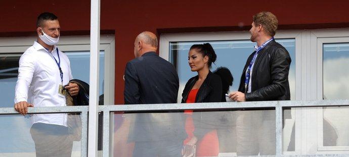 Na tenisovém turnaji v pražské Stromovce se byl podívat i český judista Lukáš Krpálek s manželkou