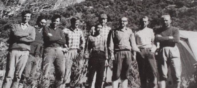 Československá výprava během peruánské expedice 1970