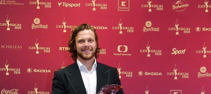 Čtyřnásobný vítěz Zlaté hokejky David Pastrňák