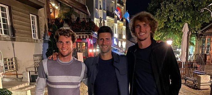 Tenisté si týden v Bělehradě parádně užili