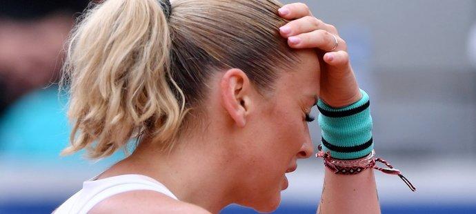 Tereza Martincová ve finále LiveScore Cupu proti Karolíně Plíškové