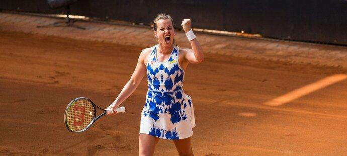 Barbora Strýcová udolala v  super tie-breaku Terezu Martincovou