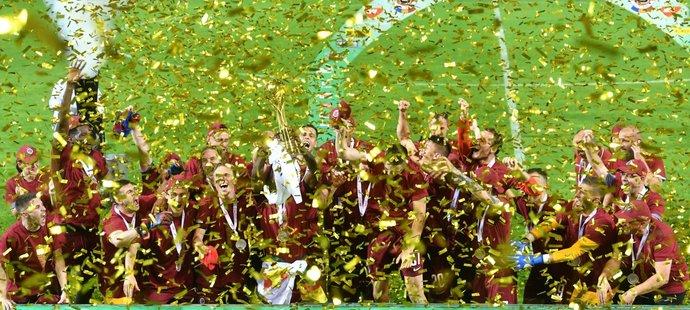 Fotbalisté Sparty si užívají pohárové vítězství po šesti letech