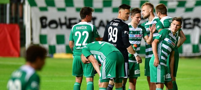 Fotbalisté Bohemians po porážce v dvojzápase s Mladou Boleslaví