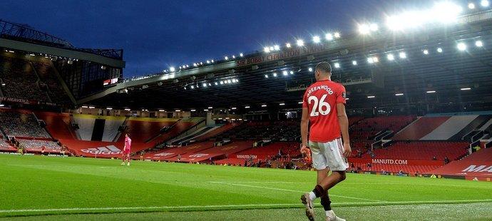 Mason Greenwood během domácího zápasu Manchesteru United se Southamptonem