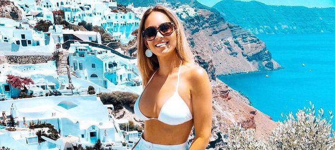 Nika Margetinová, partnerka opory Sparty Michala Sáčka, na dovolené v Řecku