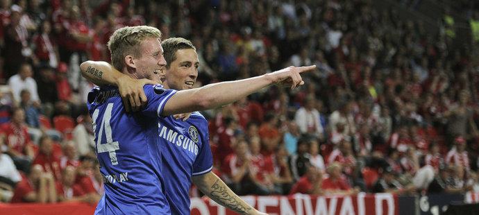 Za Chelsea si André Schürrle zahrál utkání o Superpohár UEFA proti Bayernu v pražském Edenu