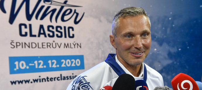 Ľubomír Višňovský na tiskové konferenci k Winter Classic
