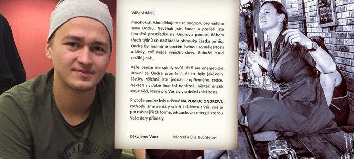 Rodiče hokejisty Buchtely, kterého zabila rakovina: Vrací 3,5 milionu pro Ondru